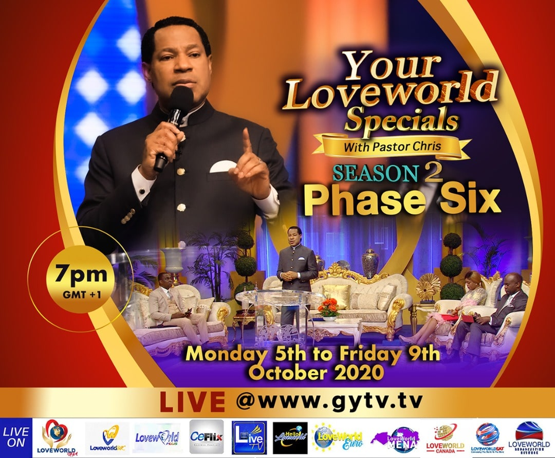 YOUR LOVEWORLD SPECIALS SEASON 2 PHASE 6
