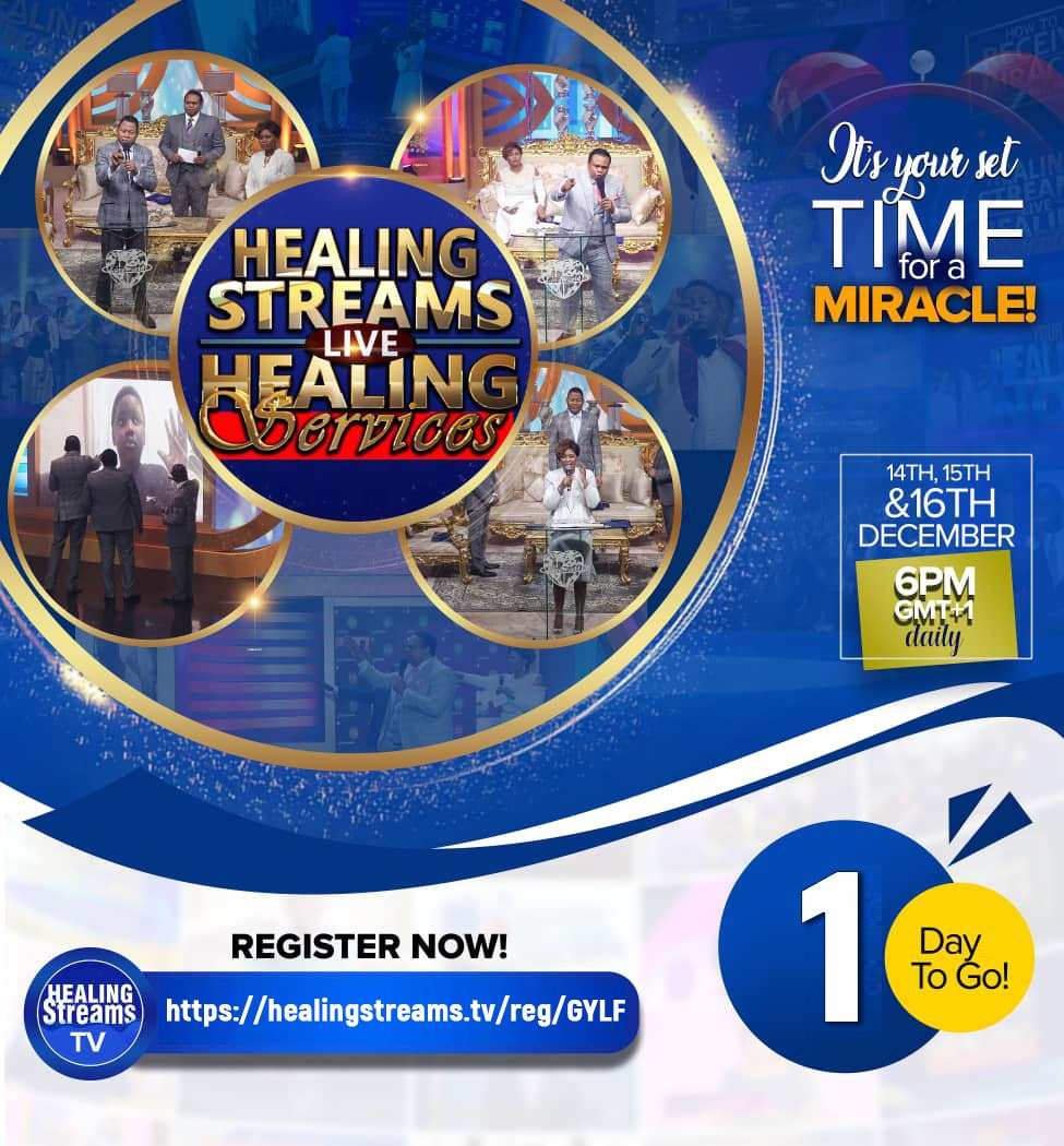 1 Day to Go - Healing Streams Live Healing Services