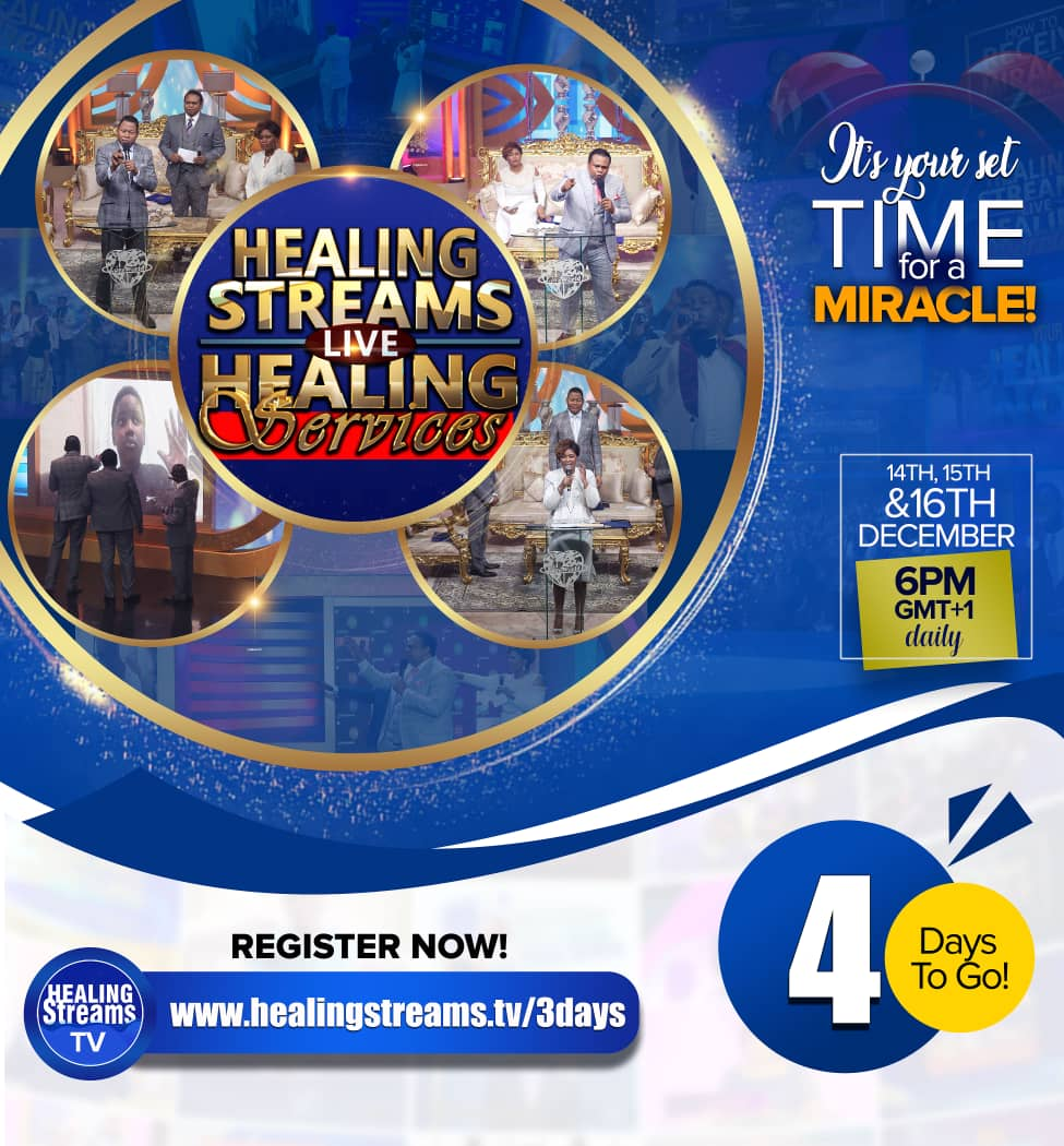 It's 4 Days to Go! Healing Streams Live Healing Services