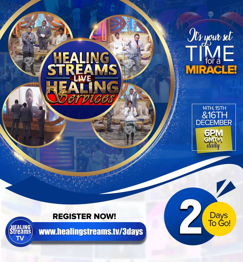 2 Days to Go - Healing Streams Live Healing Services